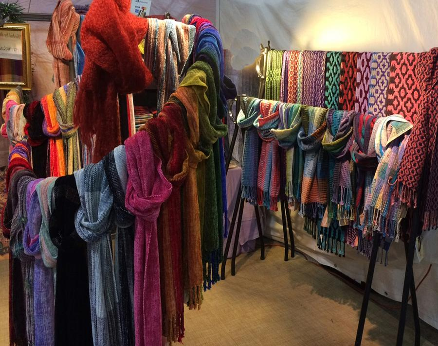 Firecrow Handwoven Scarves, Shawls and Ponchos